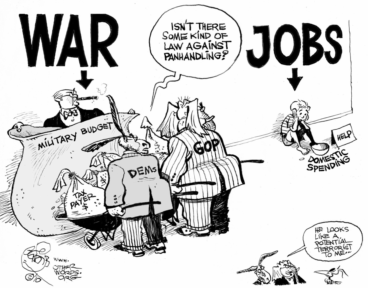 money for war money for jobs