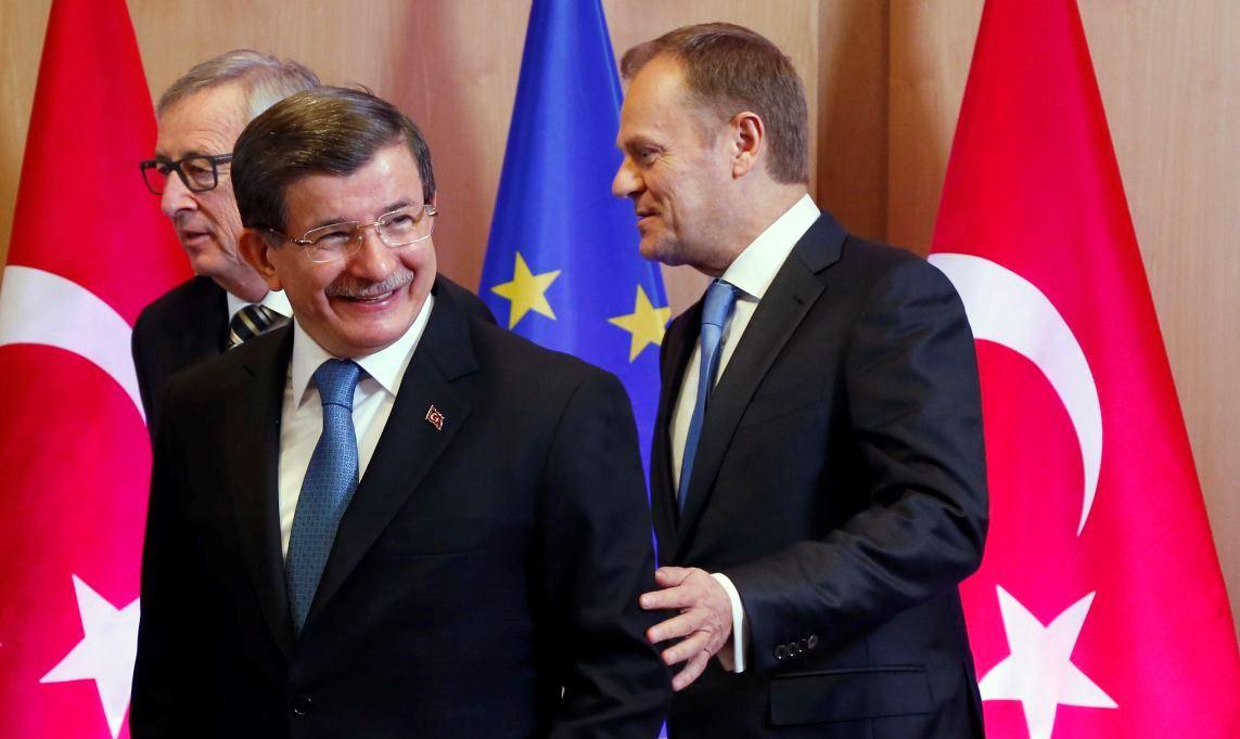 Juncker, Davoutoglou et Tusk