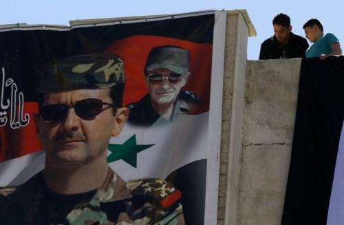 Bachar et hafez al-Assad