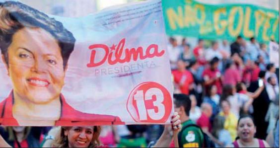 La politique sociale de Dilma et de son prédécesseur Lula vaut toujours à ceux-ci le soutien chaleureux des couches populaires.