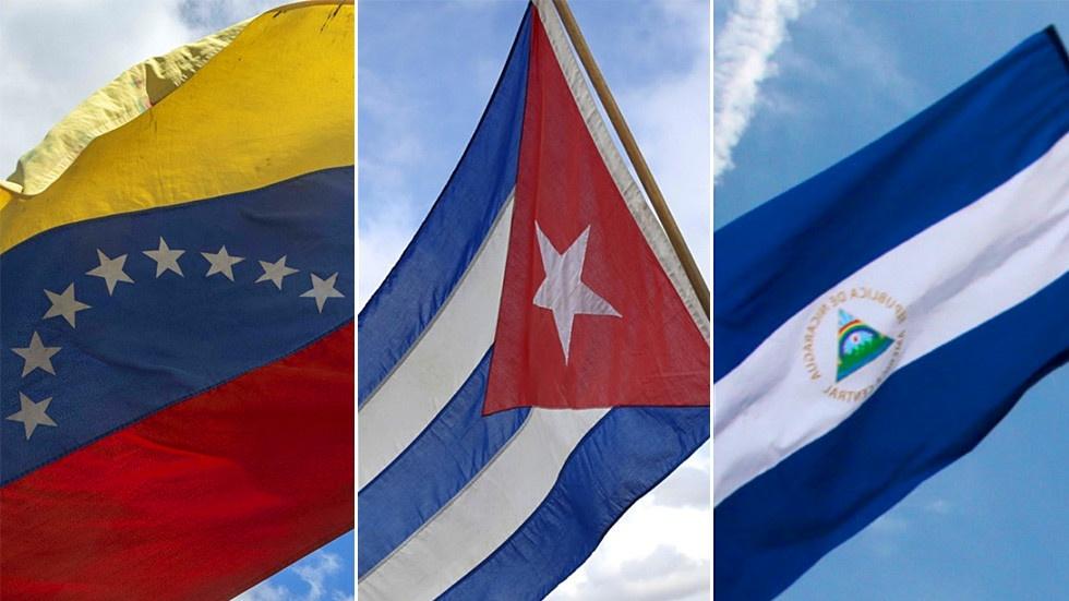 Drapeaux_Venezuela_Cuba_Nicaragua
