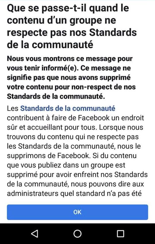 censure facebook