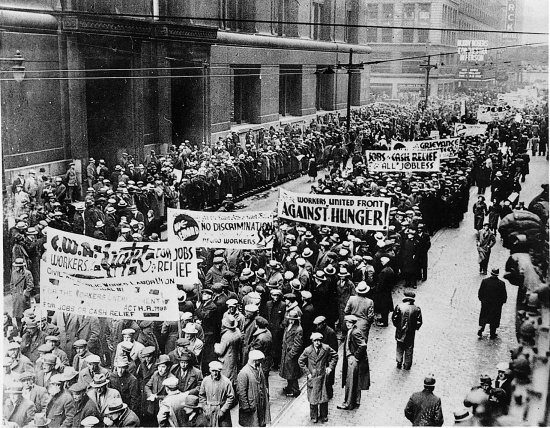 News au 3 juin 2020 LaGrandeDepression-Manifestation_de_chomeurs_a_Chicago_en_1934